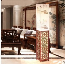 Buy Chinese Floor Lamps wooden living room lamp new classical warm study restaurant bedroom vertical bedside lamp LU71596 for $346.00 in AliExpress store