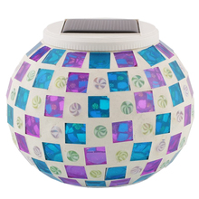 Glass Color Changing Mosaic Solar Jar Lights Lanterns, Rainproof- Soft Mood Lighting for Garden,Party, Yard, Outdoor/Indoor