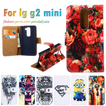 Superb Durable Sheath Flip Holster For LG Opitmus G2 Mini D618 D620 4.7 Inch Case Painted Leather Hot Selling Anti-knock Cover