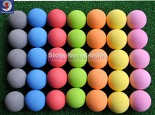 Free Shipping 7 colors Golf ball indoor exercise ball foam ball eva solid color 70pcs/lot