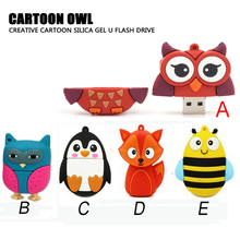 pen drive FOX bee USB Flash Drive Memory Stick/thumb 4g 8g 16g 32g 64g owl penguin flash Pendrive tiny U Disk external storage