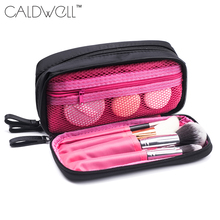 Women Cosmetic & Makeup Brush Bag Purse Small Makeup Bag Lady Storage Brush Organizer Make Up Case Beauty Clutch Cosmetic Bags(China)