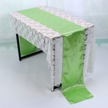 "W Colorful Modren 12"" x 108"" Satin Table Runner Wedding Party Banquet Decorations new"