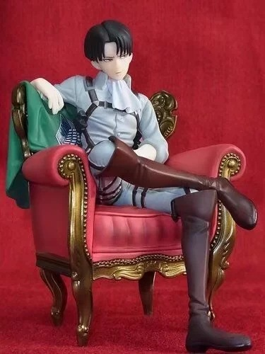 Japanese Anime Attack on Titan Levi Ackerman Sitting Sofa Ver. PVC Action Figure Brinquedos Kids Toys Anime Figure<br>