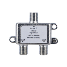 10pcs/lot 2 In 1 Dual-use 2 Way Diplexer TV Signal Mixer Satellite Sat Coaxial Combiner Cable Splitter Switch Switcher(China)