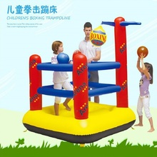 Free Shipping Inflatables Bouncer Castle,boxing Trampoline Bouncy Toy For Children,Kid outdoor sport House with Ball,baby castle(China)