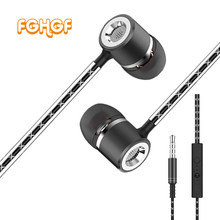 Buy FGHGF Metal Earphone Mic S1 Wired Super Heavy Bass Earbuds In-ear Stereo Microphone Headset Samsung Iphone for $2.69 in AliExpress store