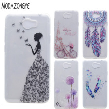 For Huawei Y5II Case 3D Flower Soft TPU Phone Case For Huawei Y5 2 / Huawei Y5 II Lte Case Silicone Protective Back Cover Skin