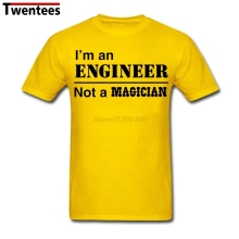Men's I'm an Engineer Not a Magician T-shirt Profession T Shirts Short Sleeve Cotton Custom Men Boy