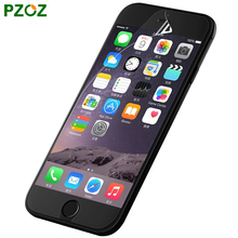 PZOZ For iphone 7 Plus High Definition Film Screen Protector Before And After Protective Film For iphone 6 S Plus 5S 5 SE 4S