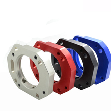 For Rsx/Civic Si Ep3 Red T6061 Billet Aluminum Throttle Body Air Intake Manifold Spacer Adaptor Throttle Body Spacer