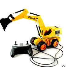 Remote control toy truck excavator electric toy car(China)