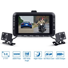 "Buy Fodsports DV168 Motorcycle DVR Car Mounted Video Recorder Dash Cam Dual Lens Cameras 3.0"" LCD Night Vision 130 Degree Wide Angle for $50.22 in AliExpress store"