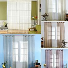 Bed Room Window Curtain Divider Drape Panel Balcony Valance Home Kitchen Decor