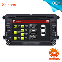 seicane Universal car DVD Player GPS Navi for 2006-2012 VW Volkswagen MAGOTAN Built-in Bluetooth support steering wheel control(China)