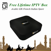 Free Eternally IPTV HDWorld A-TV Box Android Smart TV Box Arabic indian IPTV 1000+ Channels Lifetime Free PK Great Bee TV Player