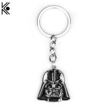 Movie Series Keyring Star Wars Keychain Darth Vader Head Pendant Key Chain With Good Quality llaveros Souvenir(China)