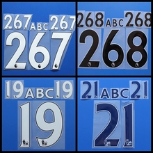 New Premier League customization football number name font print, Hot stamping Soccer patches badges