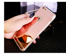 Luxury Mirror Electroplating Soft Clear TPU Cases For iphone 6 / 6S 4.7 inch For iPhone6 Plus 5.5 inch 5 5s 5se Back Cover Bags