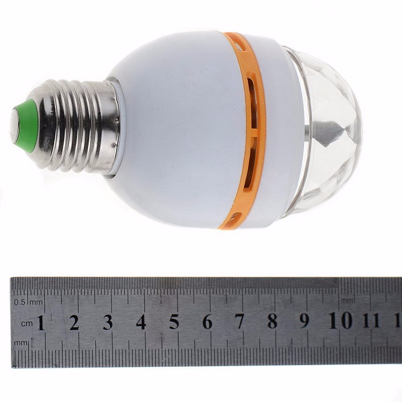 16 Colors E27 RGB LED Auto Rotating Lamp 3W AC 110V 220V Light Bulbs LED Bulbs Stage Light DJ Disco Pub SR1G P25
