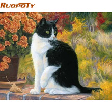RUOPOTY Cat Animals DIY Painting By Numbers Acrylic Picture Wall Art Canvas Painting Home Decor Unique Gift 40x50cm Artwork