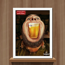 Funny Beer Man Art Prints Poster Hippie Wall Picture Canvas Painting No Framed Office Home Decor(China)
