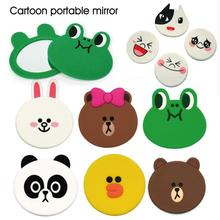 Small Cute Cartoon Pocket Mirror Hand Makeup Compact Mirrors Portable Mini mirror Beauty Make Up Tools A4