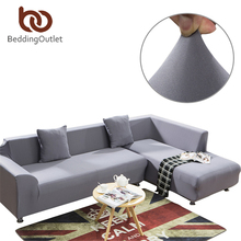 BeddingOutlet Gray Sofa Cover Multi Colors Sofa Slipcover Solid Color Stylish Furniture Protector Stretch Loveseat Cover
