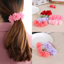 2017 Hot Sale Fashion Princess Chiffon Flowers Sweet Rubber Bands Barrettes Party Head wear Hair Band Accessories