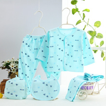 2017 Newborns Baby Clothing Set 5pcs/set Cotton Designed for Carter Baby Girls Boys Summer Clothes Cute Casual Underwear 0-3M