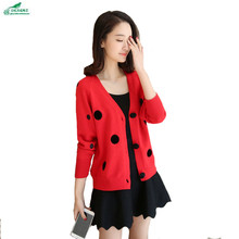 OKXGNZ Spring Women 2017 New Loose Knitting Cardigan Brief Paragraph Long Sleeve Sweater Coat Cardigan Large Size Knit Tops A148(China)