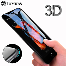 3D Round Curved Edge Tempered Glass For iPhone 6 6s Plus 7 8 X Full Cover Protective Premium 4D Screen Protector TOMKAS(China)
