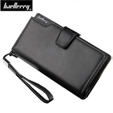 retro men long wallet oil wax high leather hasp zipper male clutch pruse vintage large capacity coin pocket with wrist strap(China)