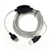 MOSUNX 15FT 5M USB 2.0 Active Repeater Cable Extension For Computer Plug Futural Digital Drop Shipping F35