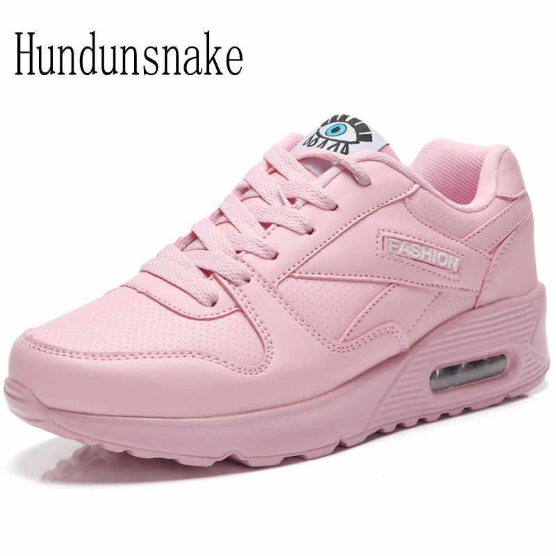 ff589153fc6a Hundunsnake розовые кроссовки женские кожаные кроссовки дышащая сетка  женская обувь спортивная Женская красовки амортизация Gumshoe t31
