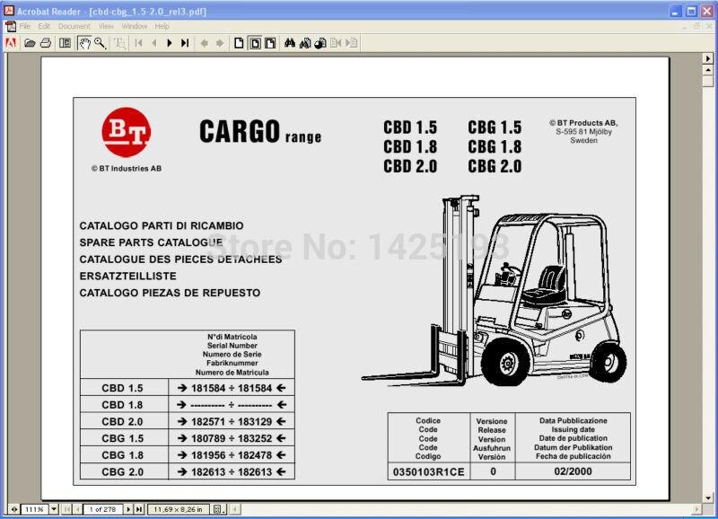 BT Cargo Range parts catalogs<br><br>Aliexpress