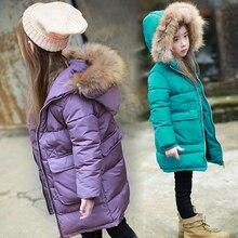 Baby Girls Jacket 2018 Winter Jacket Girls Coat Kids Warm Fur Hooded Outerwear Coat Children Jacket Girls Clothes