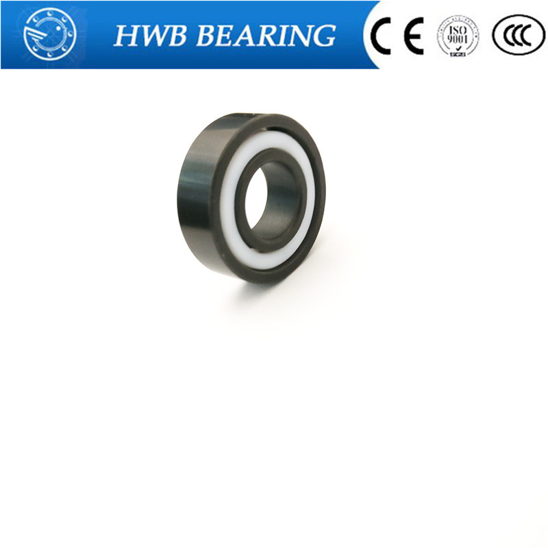 Free shipping 6801 2RS full SI3N4 ceramic deep groove ball bearing 12x21x5mm with seals 61801 2RS bearing P5 ABEC5<br>