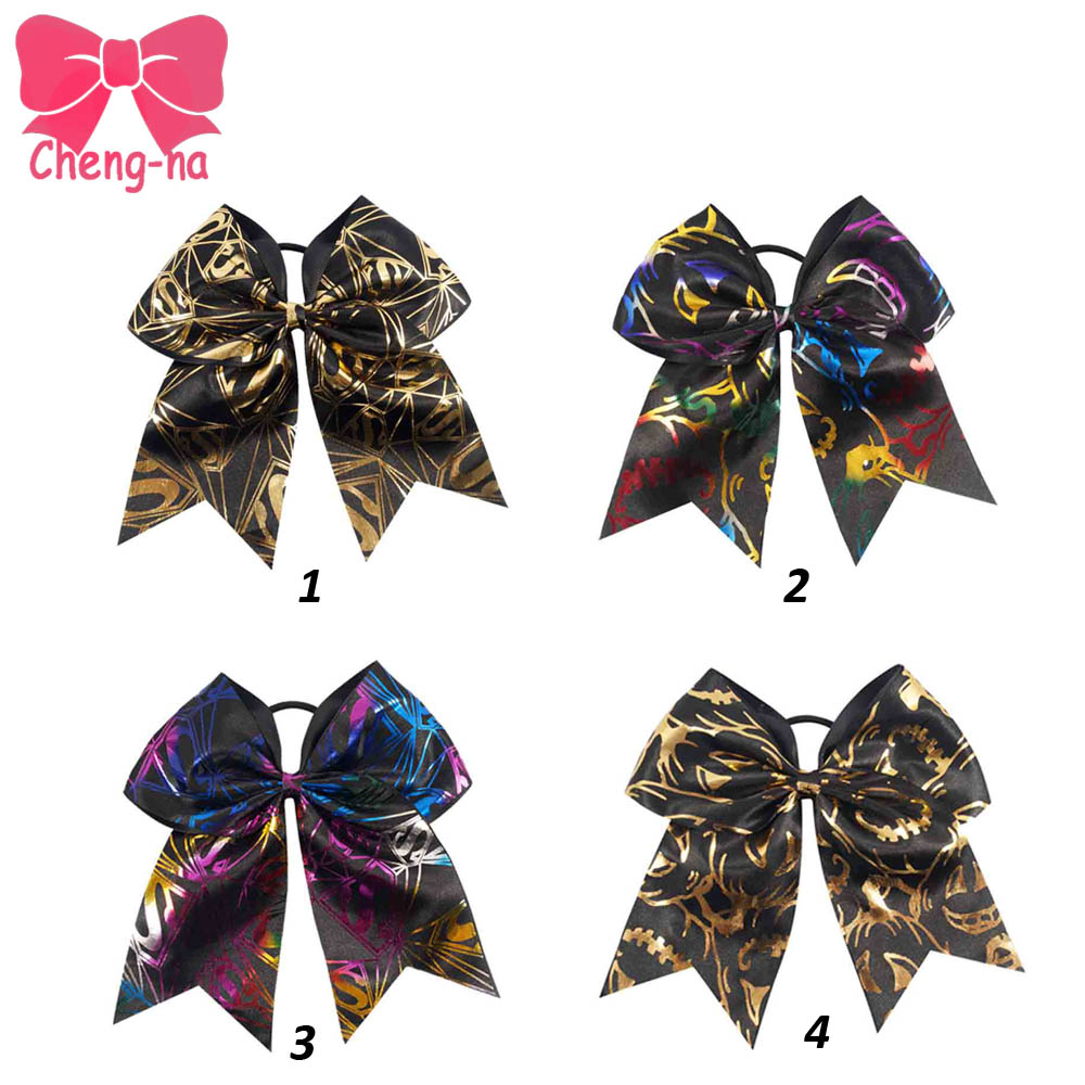 4pcs 7 Black Gold Bling Cheer Bow With Band For Girls Superman Cheerleader Hair Bow Holiday Hair Accessories For Kids <br><br>Aliexpress