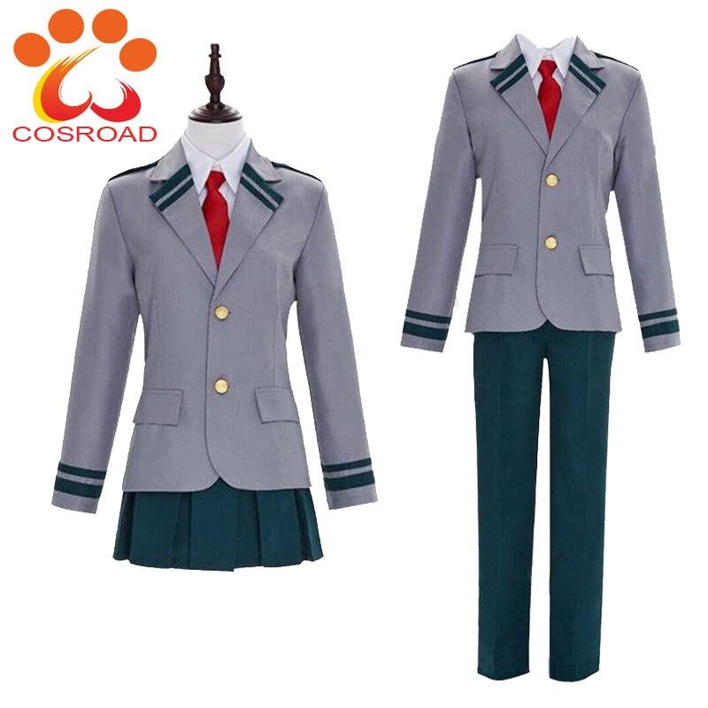 Cosroad Boku no Hero Academia Cosplay Costume Uniform Midoriya Izuku Todoroki Shoto Ochaco Uraraka Men Women School Uniforms
