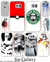 star wars coffee stormtrooper Hard Transparent Case Cover for Galaxy S3 S4 S5 & Mini S6 S7 S8 Edge Plus Case Cover
