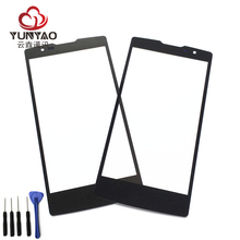 New Outer LCD Front Screen Glass Lens Cover Replacement Parts For LG Spirit H440 H441 H442 H443 C70 H422 Touch Screen(China)