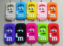 3D Soft Silicon Rubber M&M Fragrance Chocolate Rainbow Beans Case For Samsung Galaxy S3 mini / S4 mini /i8190/i9190 Phone cases
