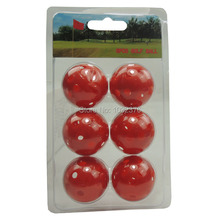 6 PCS golf ball boxes of golf blister box packing golf gift Perforated golf ball(China)