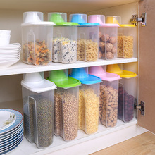 Dried Food Cereal Flour Pasta Food Storage Dispenser Rice Container Sealed Box 2.5L(China)