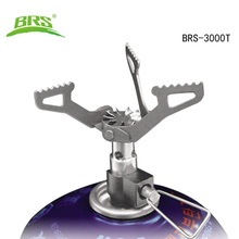 BRS Portable MINI Camping Titanium Stove Super light weight Brs-3000t Survival Furnace Pocket Picnic Cooking Gas Burner FMS X2