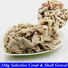 250g Irregular Coral Shell Gravel Biocycle material PH Steady Filter Media Aquarium accessories for Saltwater Reef  Marine Tank