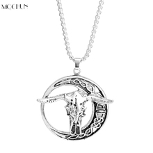 MQCHUN Jewelry Goat Skull Pendant Necklace The vikings Hiphop punk tauren necklace zodiac cattle Boy Men Christmas Birthday Gift