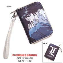 Colorful Japanese Anime Death Note L.Lawliet L Mark PU Short Wallet Purse WIth Zipper(China)