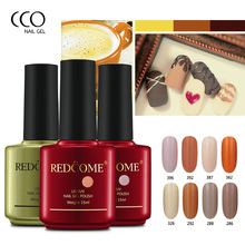CCO REDCOME Nail Gel Polish Nude Milk Tea Color Series Matte Gelpolish 15ml Soak Off UV Gel Nail Polish Solid Color Nail Makeup(China)